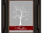 FINGERPRINT GUEST TREE , Wedding Tree, Love Birds, guest book tree wedding, Thumbprint Stamp Tree Stamp, Tree guest book, 20x30 num. 118
