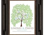 WEDDING SIGNATURE TREE guest book, spring fingerprint tree guest book, summer tree, Thumbprint guestbook, Wedding Tree, 20x30 num.120