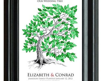 WEDDING TREE GUEST book, original Wedding Tree, drawn guest book tree wedding, hand drawn copy of original Tree guest book, 20x24 num.107