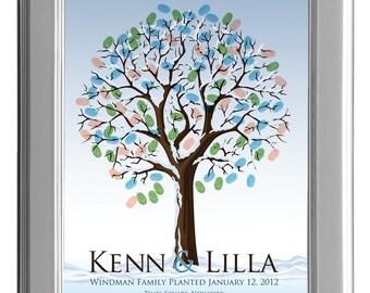 WEDDING TREE winter guest book, fingerprint tree winter guest book, fingerprint guest tree, Thumbprint guestbook, 16x20 num.114