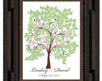 WEDDING SIGNATURE TREE guest book, spring fingerprint tree guest book, summer tree, Thumbprint guestbook, Wedding Tree, 16x20 num.120