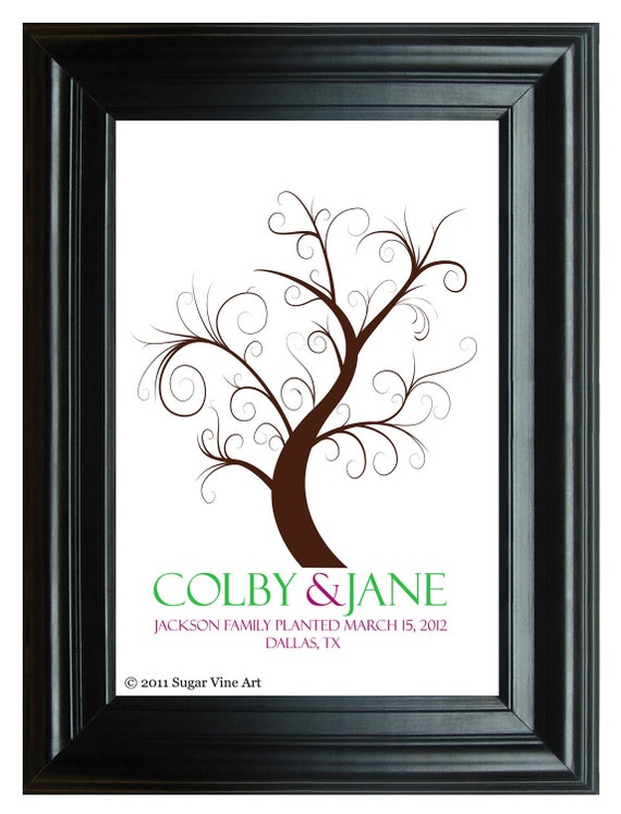 GUEST BOOK WEDDING tree, spring wedding tree guestbooks, fingerprint tree, Thumbprint guest book tree, Stamp Tree guest book 20x24 num. 106