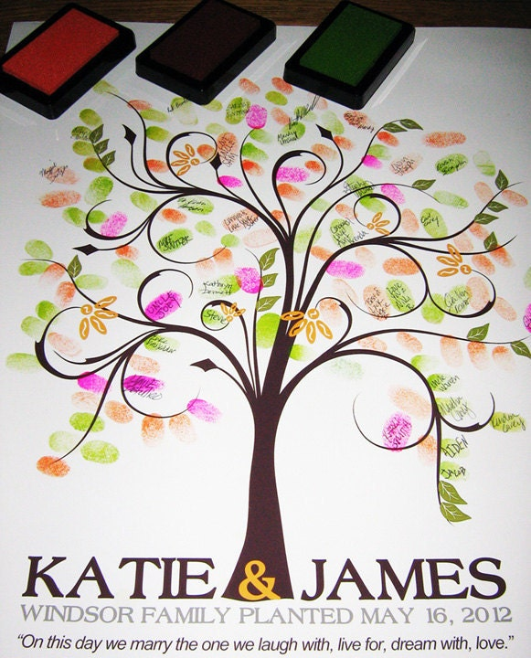 Wedding Tree Genealogy Chart By Melangeriedesign On Etsy: WEDDING GUESTBOOK TREE Guestbook Wedding Tree Spring Wedding
