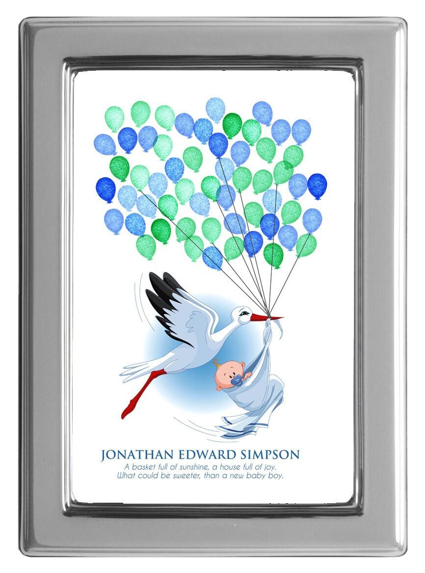 baby shower fingerprint guest book fingerprint guest book