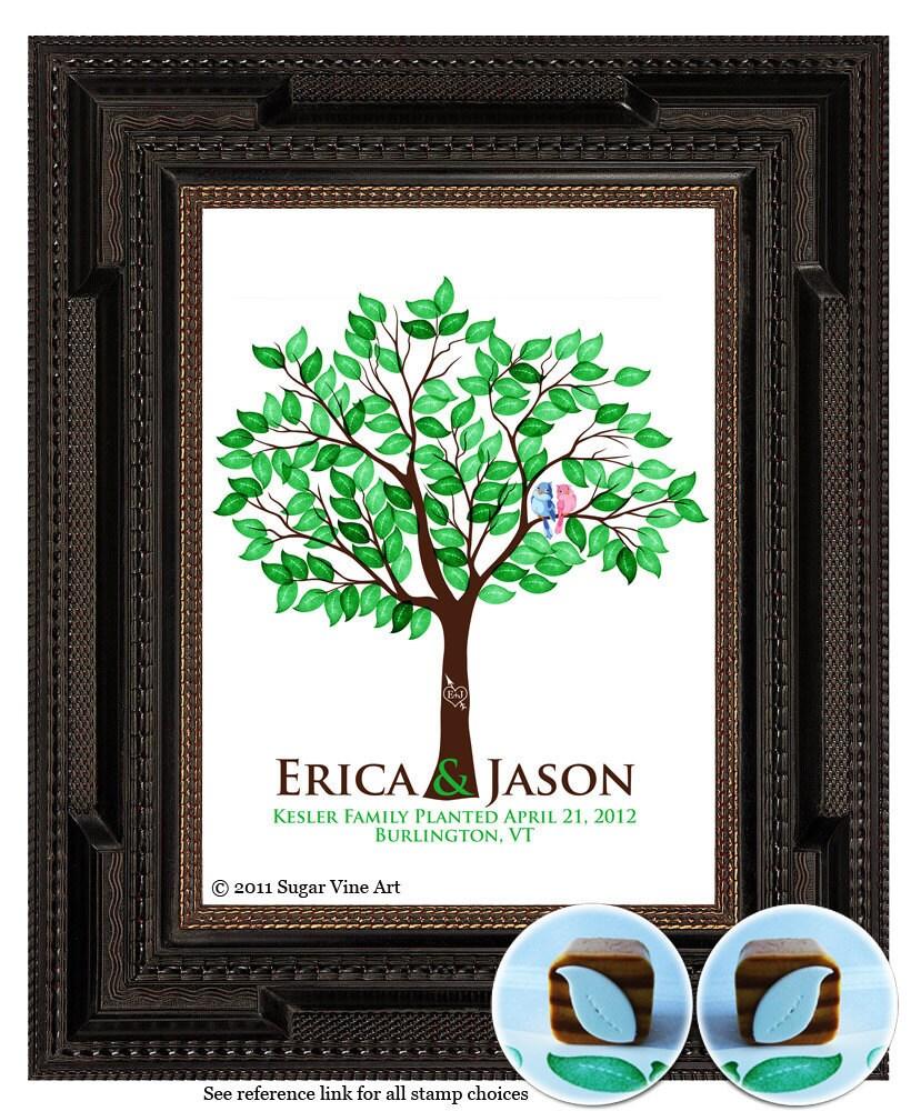 Wedding Tree Fingerprint Tree Thumb Print Guest Book: WEDDING TREE GUEST Book Thumbprint Tree Fingerprint Guest