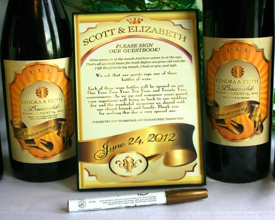 guestbook wine kit wedding guestbook kit wine bottle wedding