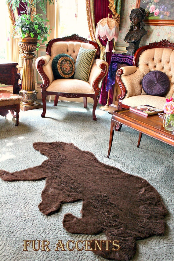 Items Similar To Plush Thick Faux Fur Fabric Bear Skin Rug