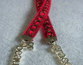Red Beauty and Grace Ribbon Bookmark