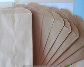 150 Brown Paper Bags- 150 Flat Kraft Merchandise Bags 5 x 7.5 for Packaging, Gift Wrap
