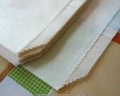 Flat Merchandise Bag - White Glassine Bags XL 5 1/2X7 3/4 - Set of 50