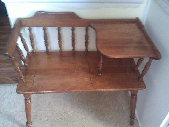 Items Similar To Vintage 1940 39 S 50 39 S Maple Gossip Bench Real Americana On Etsy