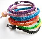 Lot of 3 Hemp Friendship Bracelets Colorful Stackable Mens Womens Bracelet