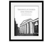 Graduation Gift - University of Georgia Personalized Wall Art - UGA Bulldogs - Graduation - Father's Day - Custom Commemorative Print Alumni