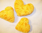 Gnome Yellow -Set of 3 - Crocheted Sachets - Premium Phatness - 004