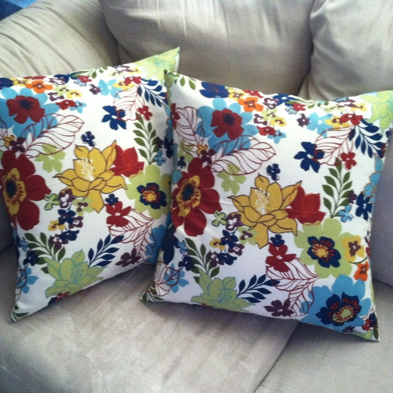 Summery Pillow Covers- Set of 2