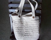 Crocheted Tote Bag Made of Cotton, Summer Tote Bag, Sturdy Crocheted Bucket Bag, Multi-Purpose, Custom Made