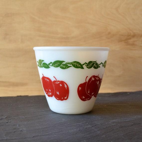 Vintage Apple Bowl by Hazel Atlas