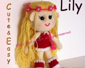 Lily : Changeable Clothes Cute and Easy Crochet Doll Pattern ( PDF only )