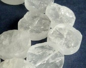 Rock crystal 25x6-10mm clear quartz large pendant, focal, gemstone beads, rough, ice like - a find