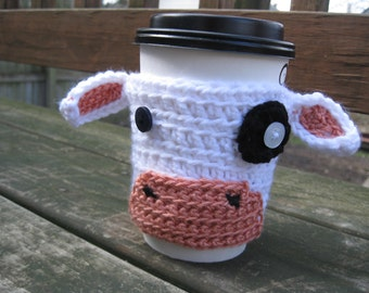 Moo Cow Crochet Coffee or Tea Cozy