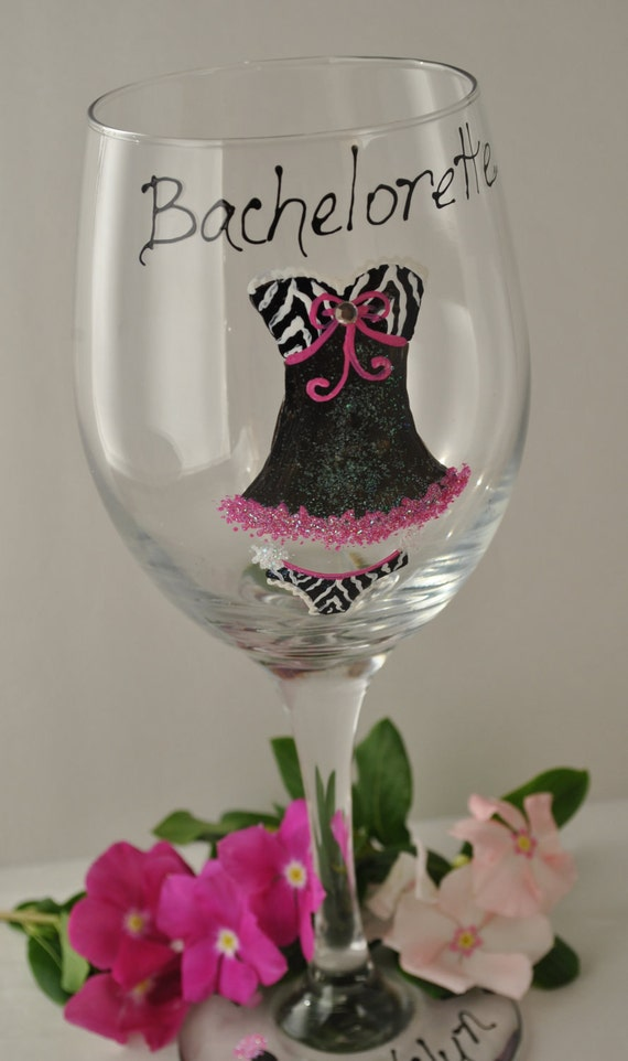 Navy Painted Wine Glasses