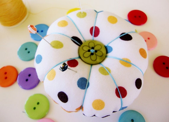 Pincushion - Flower Pincushion - Round Pincushion