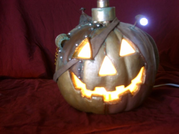 Steampunk Halloween Pumpkin...Steampunkin AKA Steam Punkinstein