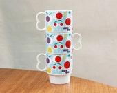 Set of Three Fruit Mugs