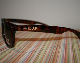 Block Engraved Wayfarer Sunglasses