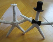 Starfish wedding cake topper