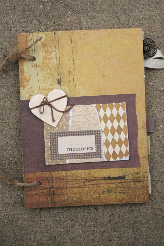 RESERVED for Brenda - Scrapbook Album Journal 5 x 7 Vintage Paper