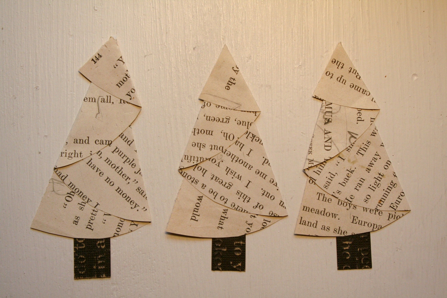 Items Similar To Vintage Paper Christmas Trees On Etsy