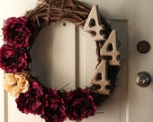 Personalized Fluffy Grand Peony Wreath