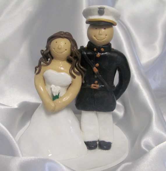 marine cake toppers for wedding cakes items similar to marine wedding cake topper on etsy 5711