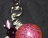 Beaded Bag Charm or Key Ring