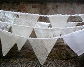 4m BUNTING white / ivory lace for weddings, parties, decoration - AmiElisah