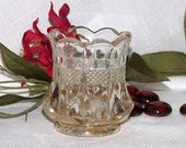 Vintage Crystal Clear Glass Toothpick Holder