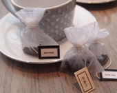 20 custom handmade tuxedo tea bags - certified organic and fair trade
