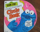 Vintage Children's Book - Sesame Street Cookie Monster's Circle Book (A Golden Shape Book 1972)