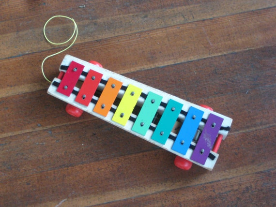 Fisher Price Children's Xylophone Pull Toy 1964 (Pull-A-Tune)