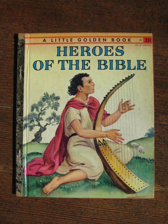 Vintage Children's Book - Heroes of The Bible (A Little Golden Book 1955)