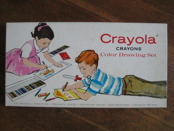 Vintage Crayola Crayons Color Drawing Set (No. 72)