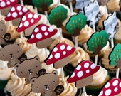 Woodland Cupcake Toppers - Pack of 24