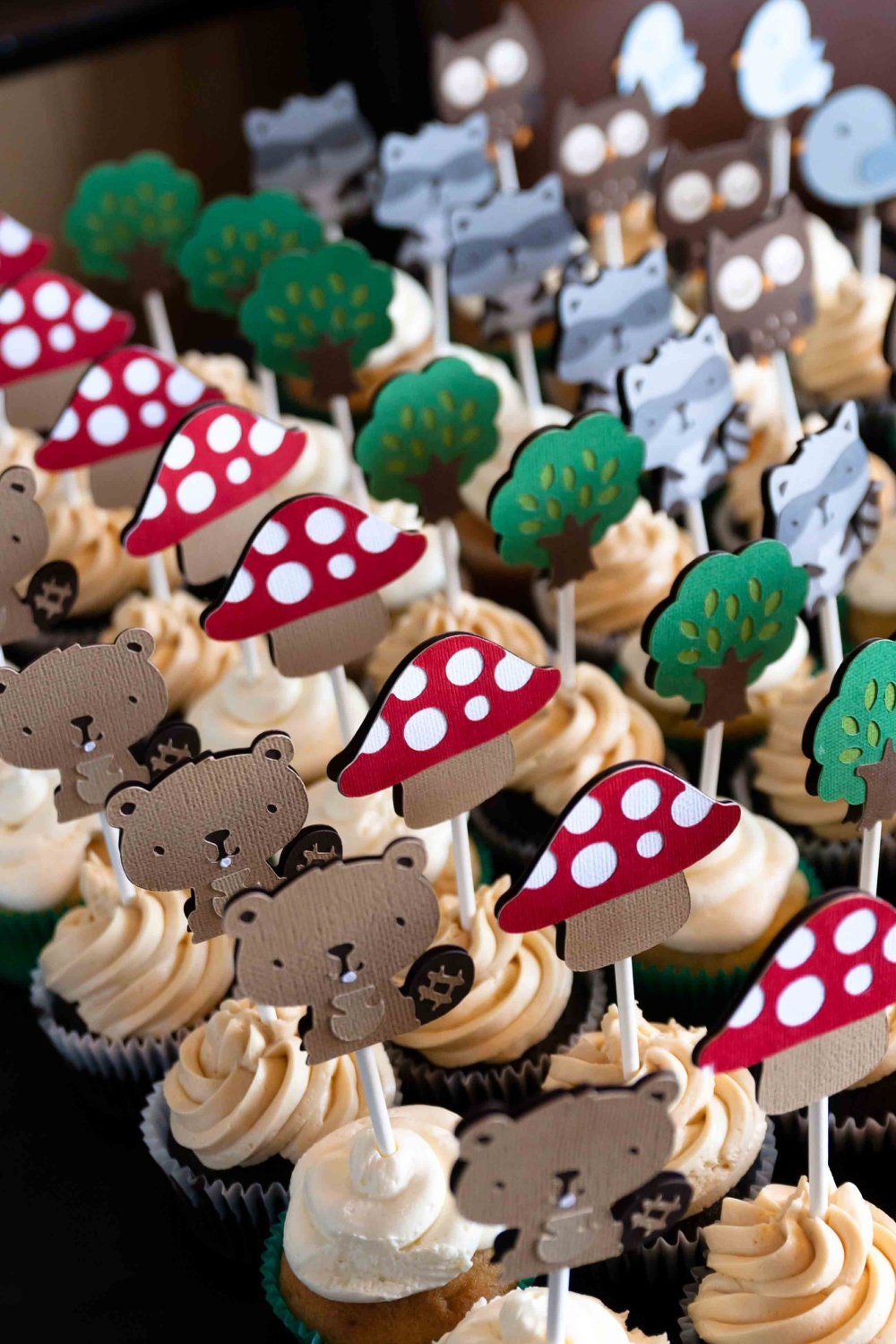 Woodland Cupcake Toppers 36 & Woodland Banner
