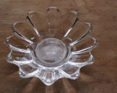 Vintage Clear Glass Candy Serving Dish