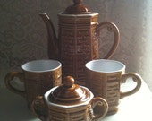 Vintage Brown Tea Set Japan Stamped