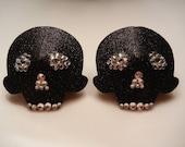 Rhinestone Skull Burlesque Pasties
