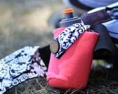Fitness/Running Water bottle Belt- Flashing My Fancy Hot Pink---Size Small
