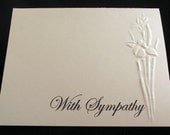 Embossed Flowers Sympathy Card
