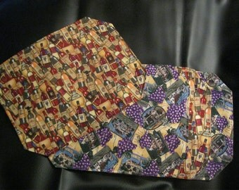 Reversible Wine/Grape Placemats